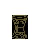 """Hourglass Pedestal H 13"""" Dia. 9"""""""